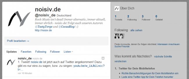 In eigener Sache: noisiv.de jetzt auch auf Twitter