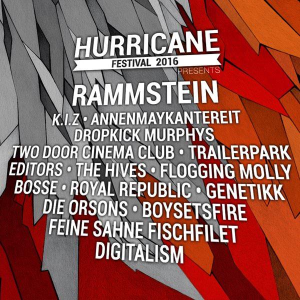 Hurricane 2016 Erste Bandwelle