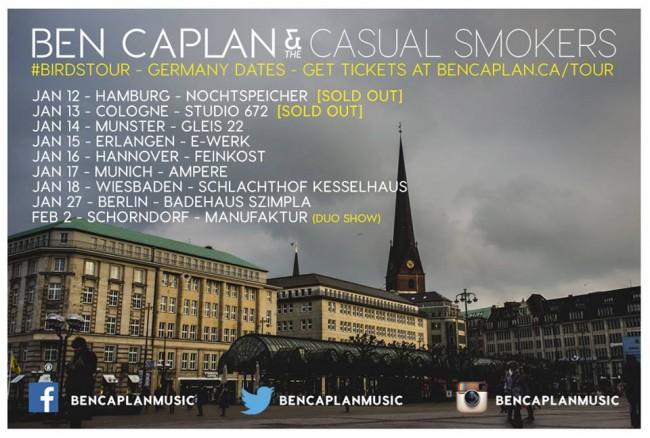 Ben Caplan Deutschland Tour
