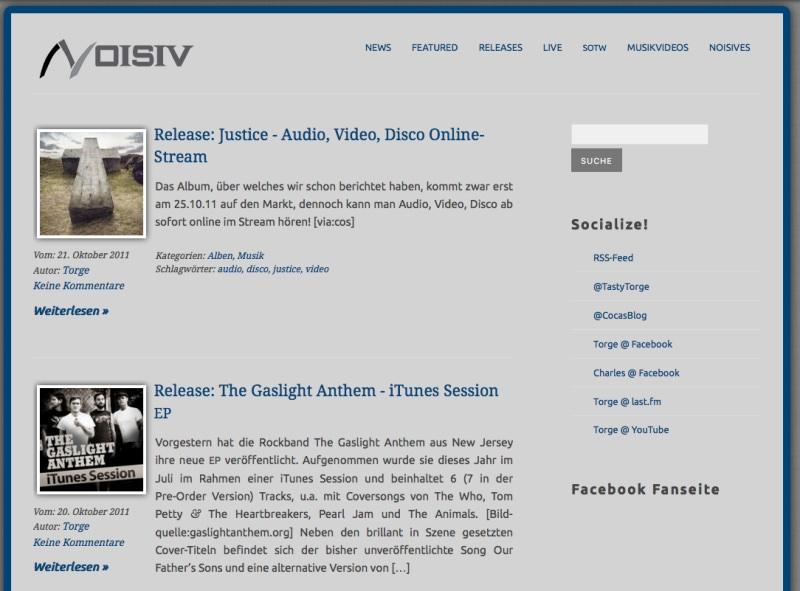 noisiv.de zum Launch im Jahr 2011